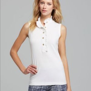 Tory Burch | Lidia Sleeveless Ruffle Polo